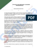 Anteproyecto Ley Colegios 11N