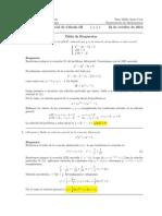 Corrección Primer Parcial de Cálculo III, 22 de octubre de 2014