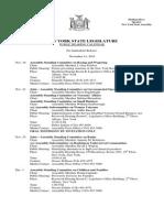 Public Hearing Calendar - November 14, 2014