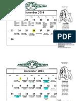2014-2015 Current Schedule