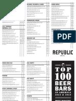 New 104 Tap Beer Menu - Republic Seven Corners