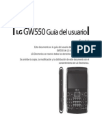 Manual LG GW620