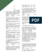 Lista de Exercicos de Revisão Soluções 2014