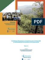 TOMO 3.1 Condiciones financieras y económicas para el desarrollo y  continuidad de los incentivos a la conservación.