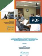 TOMO 3.2 Incidencia en políticas e instrumentos ambientales y sectoriales para la financiación de la conservación de la biodiversidad y sus servicios ambientales