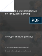 3  neurolinguistic perspective on language learning