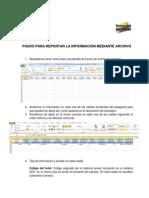 Pasos Para Reportar La Informacion Mediante Archivo