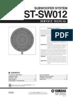Manual Yamaha YST-SW012 (Service)