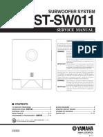 Manual Yamaha YST-SW011 (Service)