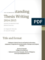 Understanding Thesis Writing