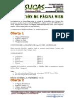 COTIZACION DE UNA PAGINA WEB
