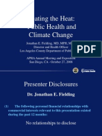 Public Health and ClimateChange