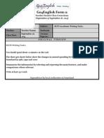 Go4English Form 11 - Teacher Naomi's Class Corrections for Shine (September 26, 2014)