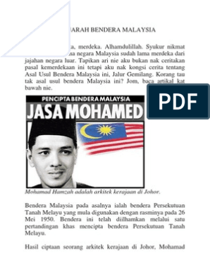 Asal Usul Sejarah Bendera Malaysia