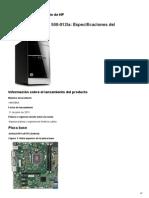 Desktop HP Pavilion 500-012la