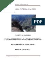 Proyecto de Inversion Turistica La Union 2009-2010