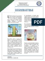 Biocombustible.