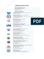 Lista Hospitales en Lima
