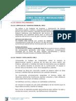Especificaciones de Instalaciones Sanitarias - Estadio