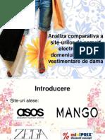 Analiza comparativa a site-urilor de comert electronic din domeniul obiectelor vestimentare de dama