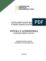 Matura 2014 - Fizyka - Poziom Podstawowy - Odpowiedzi Do Arkuszy (Studiowac.pl)