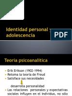 Identidad Personal y Adolescencia