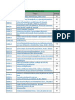 Lista de normas de referencia, especificaciones de CFE y PEMEX