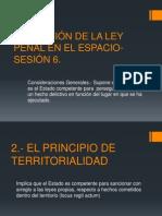 Sesion 6- Aplicacion de La Ley Penal en El Espacio