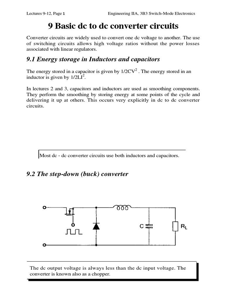 9 Basic Dc To Converter Circuits Power Inverter Transformer Voltage Wiring Diagram