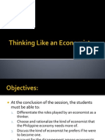 (D) Thinking Like an Economist