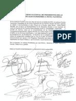 Declaración Primer Congreso Nacional de Presidentes de Juntas de Fiscales