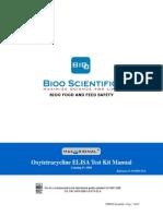 FO1081-01A  MaxSignal® Oxytetracycline  ELISA Test Kit Manual 07052014