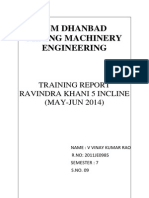 Training Report of a U/G Coal Mine