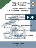 Examen Parcial Gestión Del Mantenimiento 2014-I