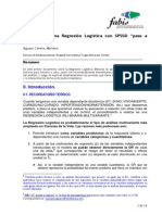 Manual regresión logística en SPSS