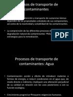 Procesos de Transporte de Contaminantes