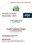 RISE Findings PPT Distribute 2014 11.14.6 Show Gdl