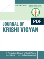 Journal of Krishi Vigyan Vol 3 Issue 1