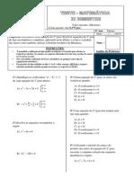 Teste - Matemática 9º - 3º B