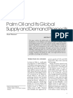 Palm Oil and Its Global Supply and Demand Prospects