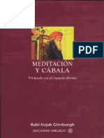 Ginsburgh Itzjak - Meditacion Y Cabala
