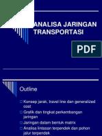 ANALISA JARINGAN TRANSPORTASI