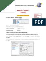 Manual Programa Proexcel Corr