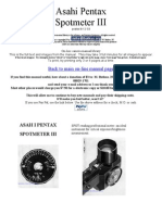 Asahi Pentax Spotmeter III