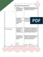 portfolio reflection form