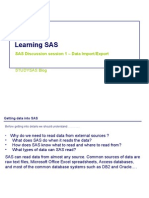 Learning SAS