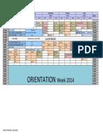 NASDA Timetable 2014 Weeks 1-8