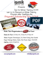 Scholarship Test for Industrial Training