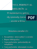 Perfectul in limba greaca