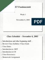 Dot NET Fundamentals Part1